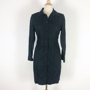Banana Republic Black Button-Down Shirtdress 12